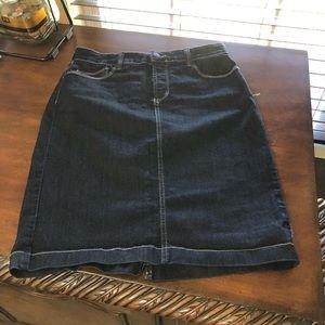 NYDJ Blue Jean Skirt Size 2